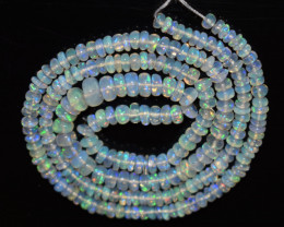 31.55 Ct Natural Ethiopian Welo Opal Beads Play Of Color OB1148