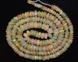 44.20 Ct Natural Ethiopian Welo Opal Beads Play Of Color OB1149