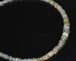 13.75 CT OPAL BRACELET MADE OF NATURAL ETHIOPIAN BEADS STERLING SILVER OBB1