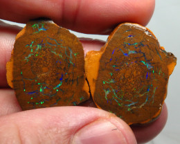 68.80ct Queensland Boulder Matrix Opal Pair Rough /Specimen