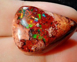 26.40ct Mexican Matrix Cantera Multicoloured Fire Opal