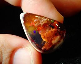 35.4ct Mexican Matrix Cantera Multicoloured Fire Opal