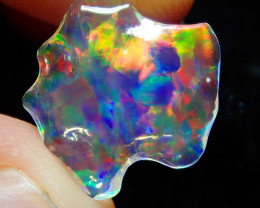 2.57ct Natural Extremely Bright Carved  Mexican Water Transparent  Opal