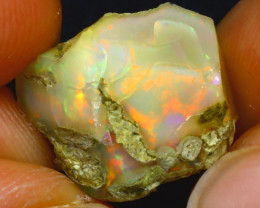 10.78Ct Multi Color Play Ethiopian Welo Opal Rough HF2006/R2