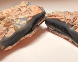 1580ct black seam opal specimen