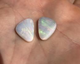8.7ct Lighting Ridge light opal pair