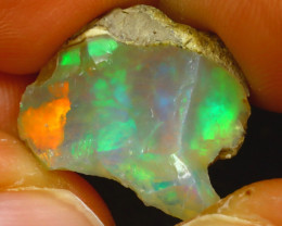 9.17Ct Multi Color Play Ethiopian Welo Opal Rough JF2115/R2