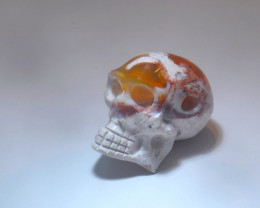 37.79ct Skull Mexican Cantera Multicoloured Fire Opal Pendant
