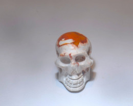 20.8ct Skull Mexican Cantera Multicoloured Fire Opal Pendant