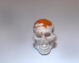 20.8ct Skull Mexican Cantera Multicoloured Fire Opal Pendant