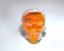 20.24ct Skull Mexican Cantera Multicoloured Fire Opal