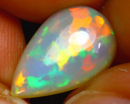 Welo Opal 2.94Ct Natural Ethiopian Play of Color Opal H2202/A44