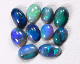2.58Ct Natural Australian Lightning Ridge Dark Black Opal Lot E1802