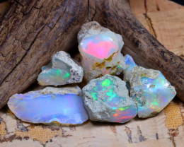 Welo Rough 38.01Ct Natural Ethiopian Play Of Color Rough Opal D1901