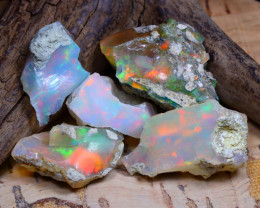 Welo Rough 36.72Ct Natural Ethiopian Play Of Color Rough Opal D1903