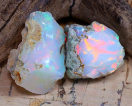 27.19Ct Bright Color Natural Ethiopian Welo Opal Rough DT0246
