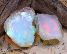 27.76Ct Bright Color Natural Ethiopian Welo Opal Rough DT0250