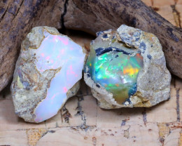 21.47Ct Bright Color Natural Ethiopian Welo Opal Rough DT0251