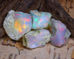 37.00Ct Bright Color Natural Ethiopian Welo Opal Rough DT0253