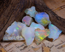 27.75Ct Bright Color Natural Ethiopian Welo Opal Rough DT0259