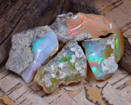 46.02Ct Bright Color Natural Ethiopian Welo Opal Rough DT0265