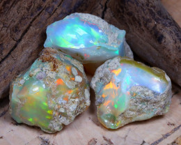 31.33Ct Bright Color Natural Ethiopian Welo Opal Rough DT0270