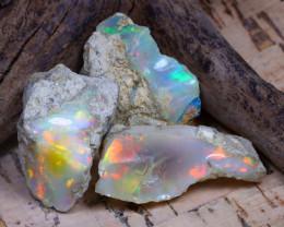 30.08Ct Bright Color Natural Ethiopian Welo Opal Rough DT0294