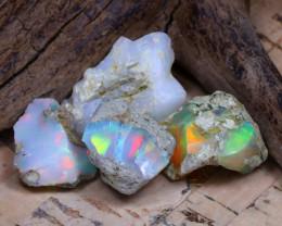 28.04Ct Bright Color Natural Ethiopian Welo Opal Rough DT0296