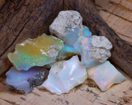 33.36Ct Bright Color Natural Ethiopian Welo Opal Rough DT0297
