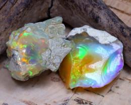 28.43Ct Bright Color Natural Ethiopian Welo Opal Rough DT0299