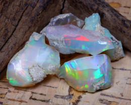 Welo Rough 42.39Ct Natural Ethiopian Play Of Color Rough Opal D2002