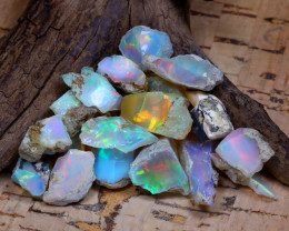 Welo Rough 43.35Ct Natural Ethiopian Play Of Color Rough Opal D2003