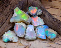Welo Rough 34.46Ct Natural Ethiopian Play Of Color Rough Opal D2106