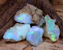 34.94Ct Bright Color Natural Ethiopian Welo Opal Rough DT0326