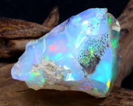 26.49Ct Bright Color Natural Ethiopian Welo Opal Rough DT0302