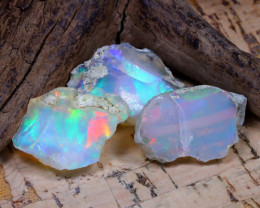 26.96Ct Bright Color Natural Ethiopian Welo Opal Rough DT0303