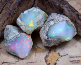 29.57Ct Bright Color Natural Ethiopian Welo Opal Rough DT0329