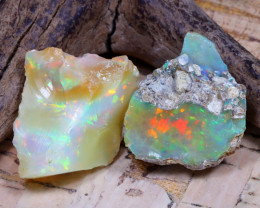 26.25Ct Bright Color Natural Ethiopian Welo Opal Rough DT0305