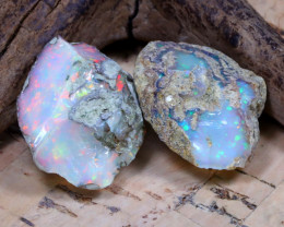 24.62Ct Bright Color Natural Ethiopian Welo Opal Rough DT0312