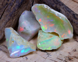 25.42Ct Bright Color Natural Ethiopian Welo Opal Rough DT0315