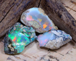 24.63Ct Bright Color Natural Ethiopian Welo Opal Rough DT0316
