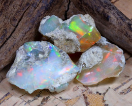 31.01Ct Bright Color Natural Ethiopian Welo Opal Rough DT0335