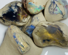 BIG NOBBY ROUGH OPALS WITH COLOURFUL BARS # 1466