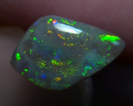 1.36ct Lighting Ridge Solid Gem dark Opal Muitiple Gem colors