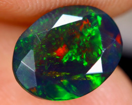 1.40cts Natural Ethiopian Faceted Smoked Welo Opal / BF3612