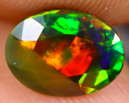 0.95cts Natural Ethiopian Faceted Smoked Welo Opal / BF3618
