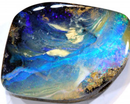 49.60 cts   Drilled Boulder Opal cut stone TBO-A1963