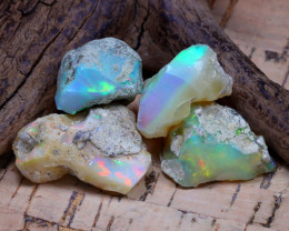 Welo Rough 32.82Ct Natural Ethiopian Play Of Color Rough Opal D2301