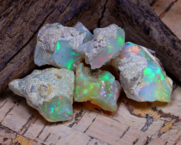 Welo Rough 34.72Ct Natural Ethiopian Play Of Color Rough Opal D2303