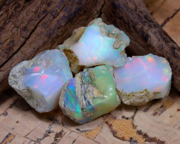 Welo Rough 36.48Ct Natural Ethiopian Play Of Color Rough Opal D2304